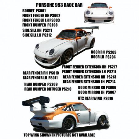 PORSCHE 993 RACE CAR BODY KIT
