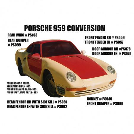 PORSCHE 959 FRONT FENDER LH...